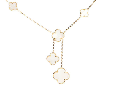 Van Cleef & Arpels 18K Yellow Gold 6-Motif Magic Alhambra Pendant Necklace