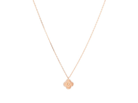 Van Cleef & Arpels 18K Rose Gold Sweet Alhambra Pendant Necklace