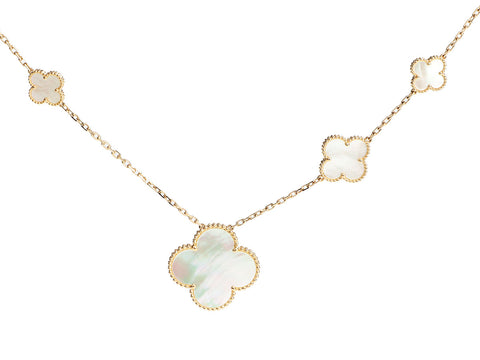 Van Cleef & Arpels 18K Yellow Gold 11-Motif Magic Alhambra Long Necklace