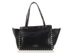 Valentino Small Black Rockstud Trapeze Bag