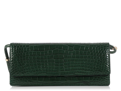 Valentino Emerald Green Alligator Clutch