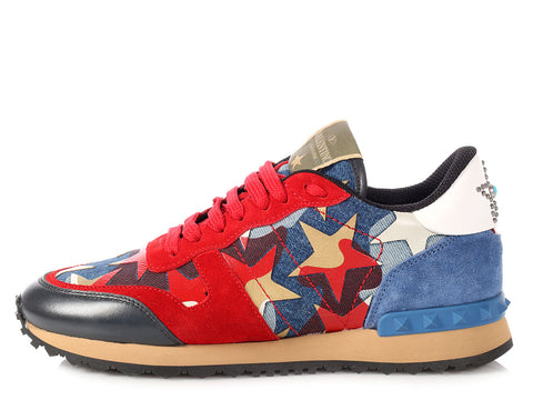 Valentino Rockrunner Star Sneakers