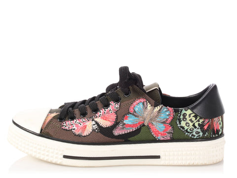Valentino Camo Butterfly Sneakers