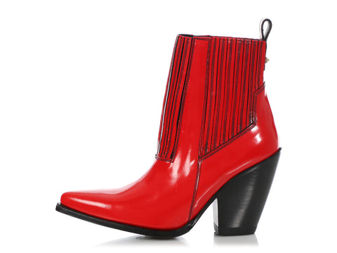 Valentino Red Texan Booties