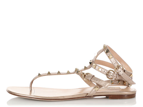 Valentino Gold Gladiator Sandals