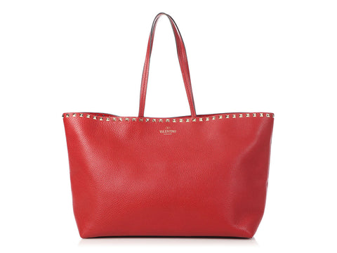 Valentino Red Rockstud Tote