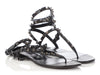 Valentino Black Rockstud Gladiator Sandals