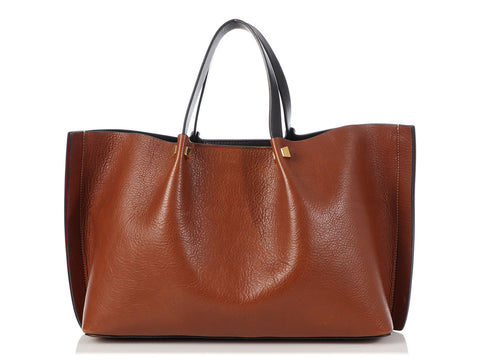 Valentino Medium Brown Escape VLogo Tote