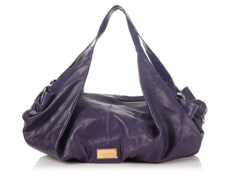 Valentino Large Purple Bow Bag