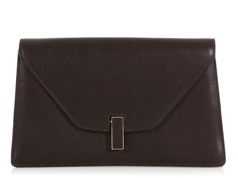 Valextra Dark Brown Iside Clutch