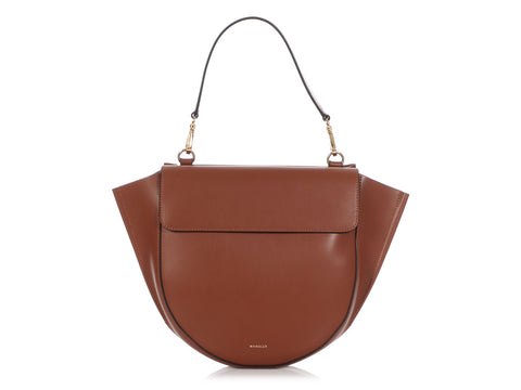 Wandler Medium Brown Hortensia Bag