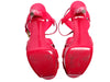 YSL Magenta Tribute 75 Patent Sandals