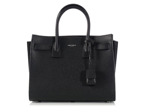 St. Laurent Black Baby Sac de Jour