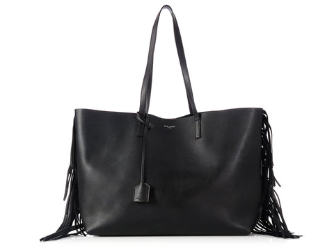 Saint Laurent Black Fringed Tote