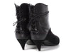 Saint Laurent Black Suede and Snakeskin Era Ankle Boots