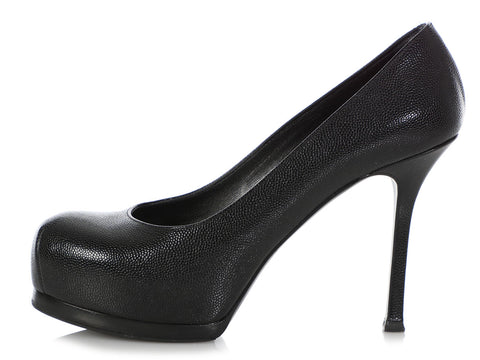 YSL Black Leather Pumps