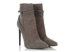 Saint Laurent Gray Suede Stiletto Booties