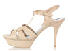 Saint Laurent Powder Nude Tribute Platform Sandals