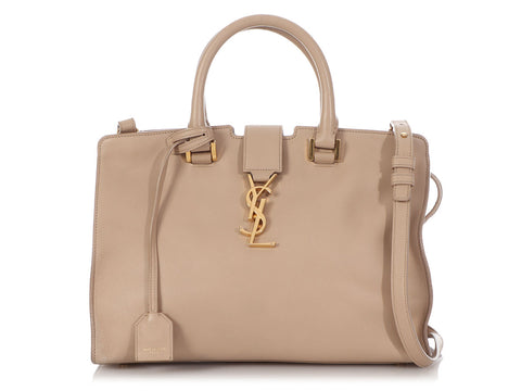 Saint Laurent Small Taupe Bo Cabas