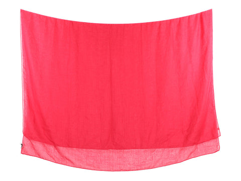 Saint Laurent Red Cashmere Silk Shawl