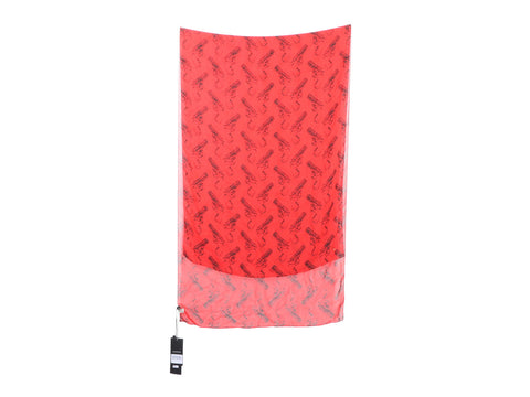 Saint Laurent's Red Gun Pop Silk Chiffon Stole