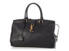 Saint Laurent Black Monogram Downtown Cabas Satchel