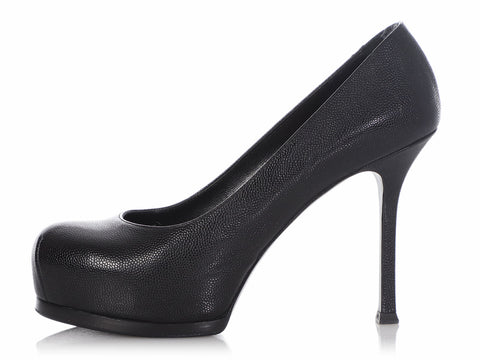 Saint Laurent Black Tribtoo Pumps