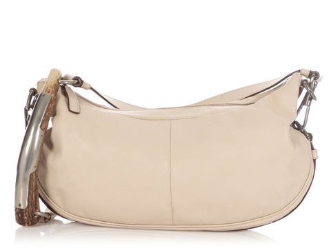 YSL Beige Mombasa Shoulder Bag