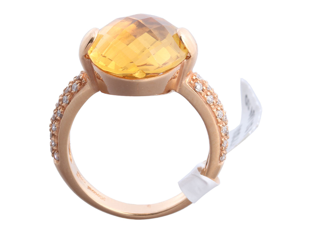 Zoccai 18K Rose Gold Citrine Ring