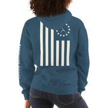 Load image into Gallery viewer, American Flag Hooded Sweatshirt