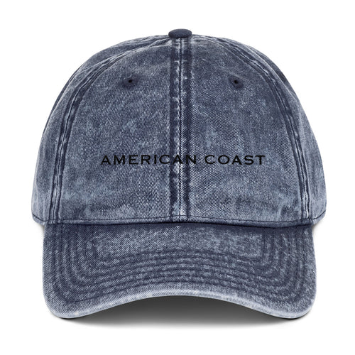 AMERICAN COAST Vintage Cotton Twill Cap