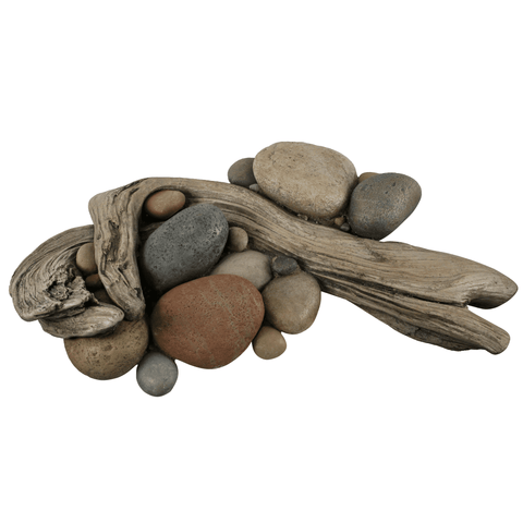 Driftwood with River Rock