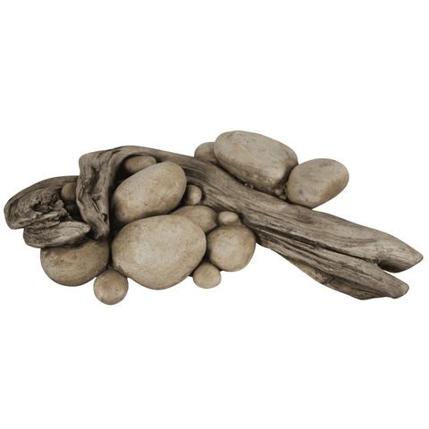 Driftwood with River Rock Base