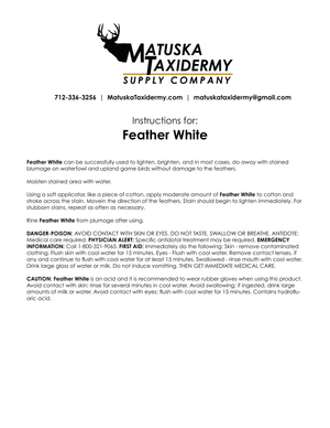 Feather White - Matuska Taxidermy