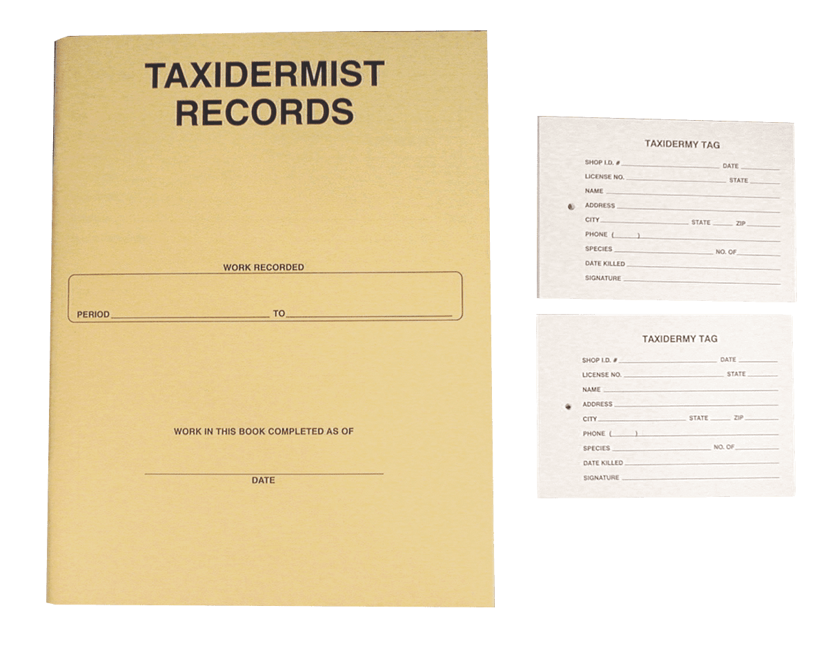 Record Keeping System - Matuska Taxidermy