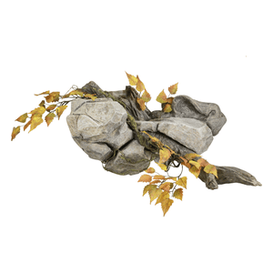 Wall Scenery • Rock/Driftwood Scene - Matuska Taxidermy