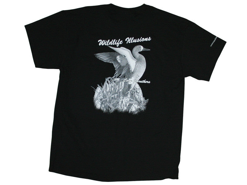 Wildlife Illusions Black T-Shirt - Matuska Taxidermy