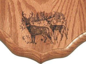 Laser Engraved Antler Panels - Matuska Taxidermy