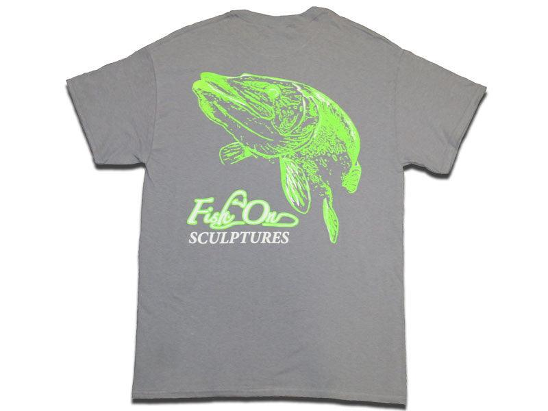 Fish On Fish Forms Grey T-Shirt - Matuska Taxidermy