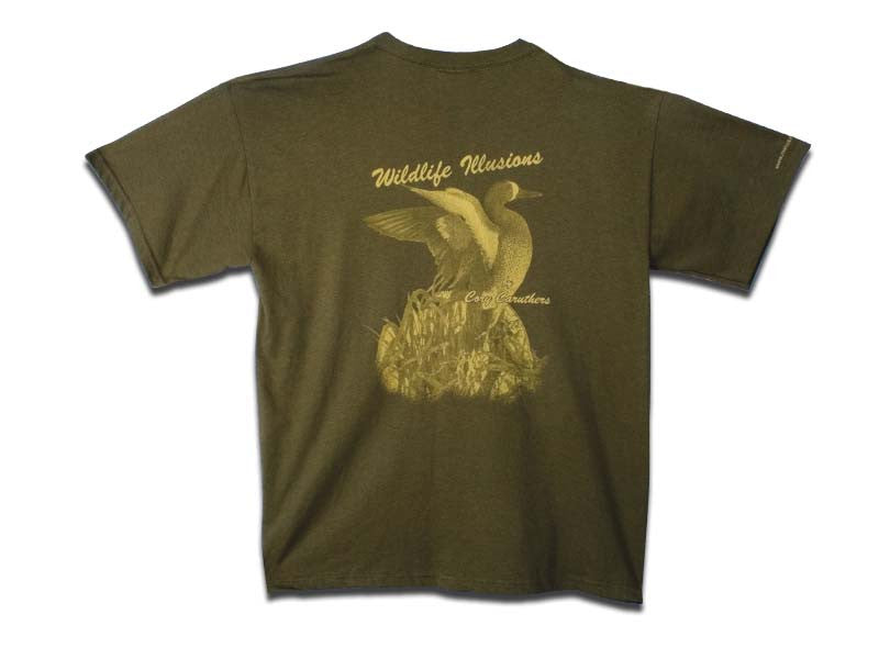Wildlife Illusions Dark Green T-Shirt - Matuska Taxidermy
