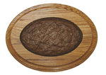 Single Tiered Oval Bases w/ Dirt Inserts - Matuska Taxidermy