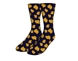 Jag Printed Navy Blue Socks