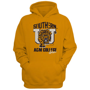Southern University Big Cat Unisex Gold Hoodie