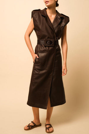 Biodiverse Trenchcoat Dress - Trenchcoat Dress for women - Johanna Ortiz