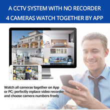 Load image into Gallery viewer, Wireless Security Camera System Camera Wifi SD Card Outdoor 4CH - Bragartele.com