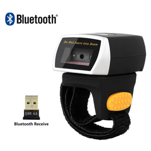 Bluetooth Barcode Ring Scanner 1D 2D QR Barcode Reader AND NT-R3 - Bragartele.com