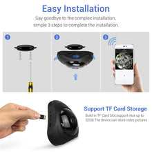 Load image into Gallery viewer, CCTV Fisheye Video Surveillance Camera 720P IP Camera 360°  Wifi 960P 1200TVL Cameras - Bragartele.com
