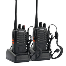 Load image into Gallery viewer, Walkie Talkie Handheld Two Way Radio & Headsets 5W 2PCS UHF 400-470MHz Frequency Portable CB Radio Communicator - Bragartele.com