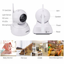 Load image into Gallery viewer, Wifi Surveillance Camara 720P Wireless IP Camera 1200TVL Android iPhone OS Access Cameras - Bragartele.com