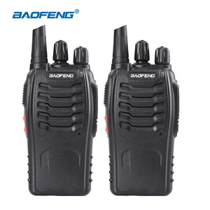 Walkie Talkie Handheld Two Way Radio & Headsets 5W 2PCS UHF 400-470MHz Frequency Portable CB Radio Communicator - Bragartele.com